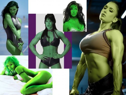 She Hulk Fans use Photoshop