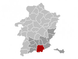 Map location of Tongeren, Limburg, Belgium