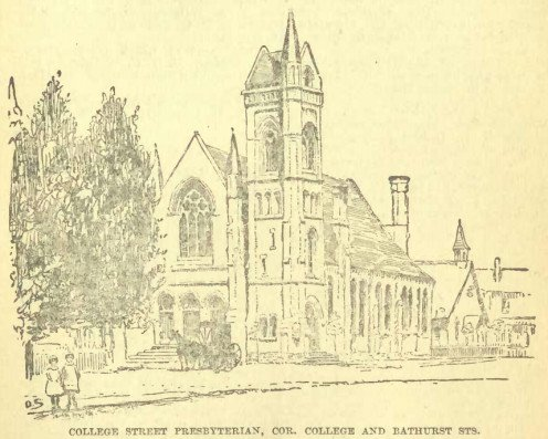 College Street Presbyterian; the original College Street United Church in 1904