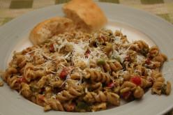 Easy Chicken Pesto and Pasta