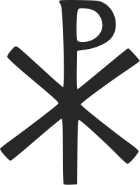 The labarum, often called the Chi-Rho, is a Christian symbol representing Christ
