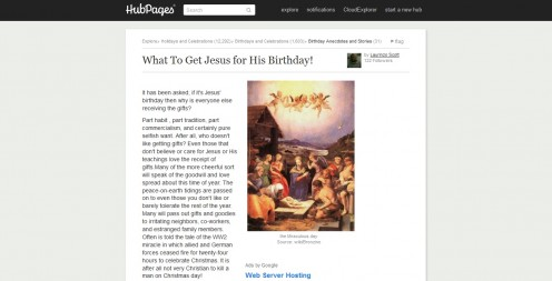 What To Get Jesus for His Birthday!