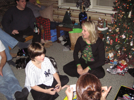 Playing games on Christmas night