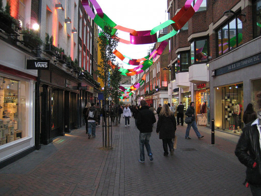 Carnaby Street at Christmas, London