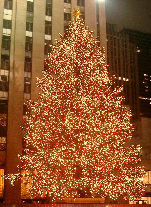 The famous Rockefeller Center Christmas Tree in New York City