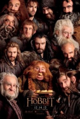 Movie Poster showing Thorin and the dwarves