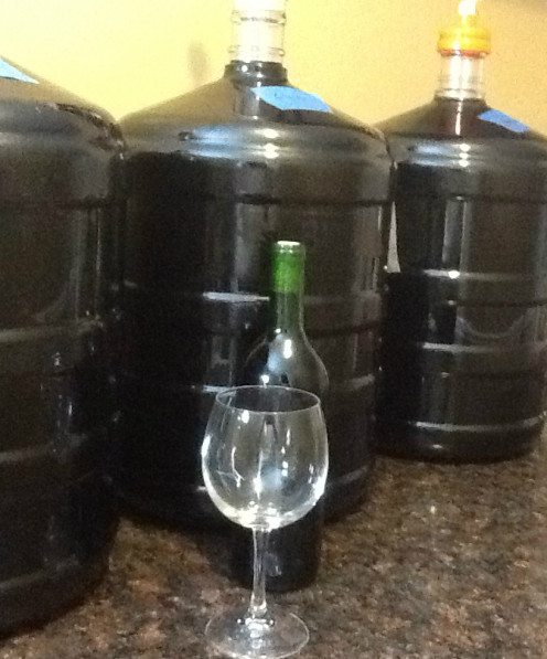 These six gallon containers are perfect for home winemaking.