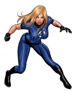 Invisible Woman Short Sleeve Costume