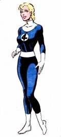 Invisible Woman Blue and White Costume