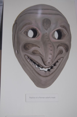 Replica of Roman mask from Verulamium Museum