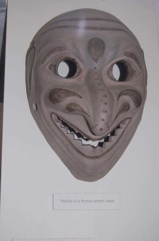 Replica of Roman mask from Verulamium Museum