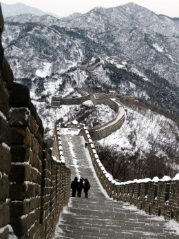 Witer in Great Wall of China