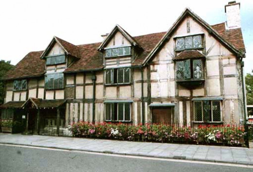 Shakespeare's birthplace. He and Anne, with their children, lived here with his parents until he bought them New Place.