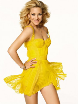 Kate Hudson Shines in a Yellow Dress