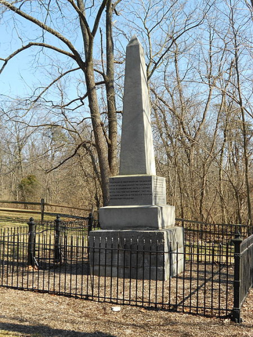 Memorial to the victims of the Pontiac's Rebellion School Massacre of 1764 in Pennsylvania.