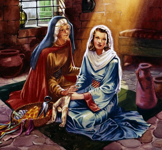 Mary and Elizabeth, as they joyfully await the coming of the newborn King.