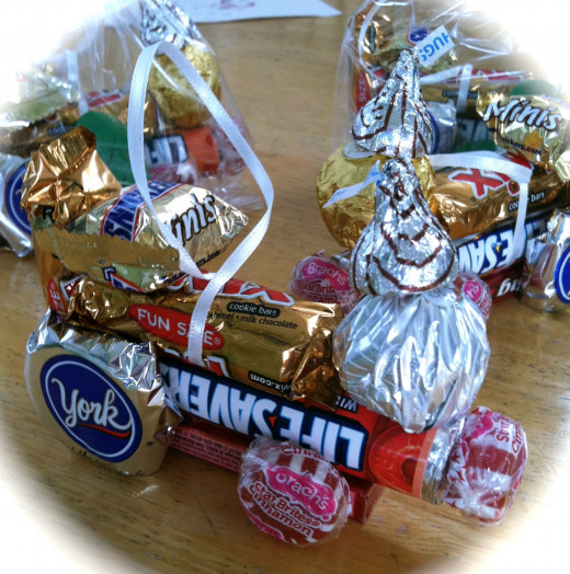 The first candy trains included Ferrero Rocher® chocolates.