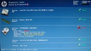 HP diagnostic Screen