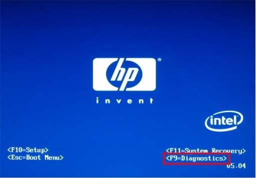 HP Splash Screen
