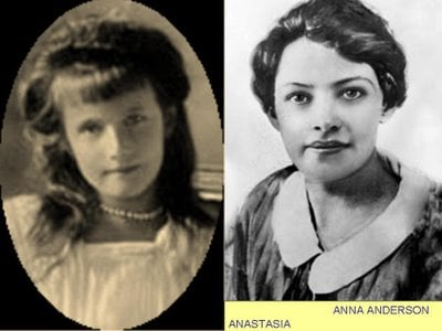 A comparison between Anastasia and Anna Anderson.