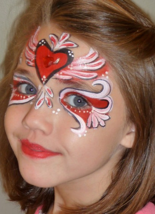Red Face Paint Design