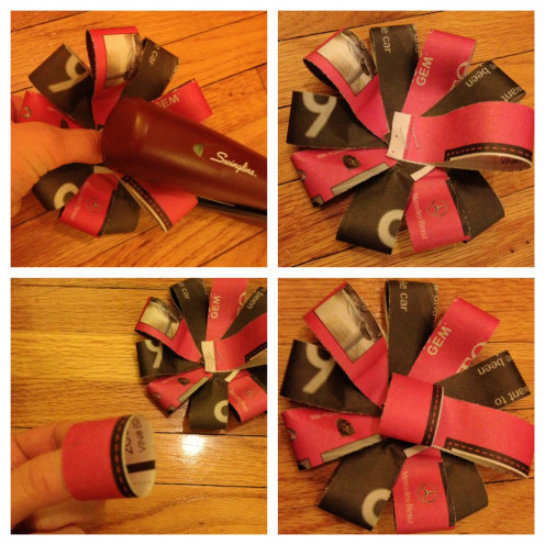 DIY Newspaper Bows: Steps 8-11