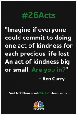 #26 Acts Of Kindness - Ann Curry Style