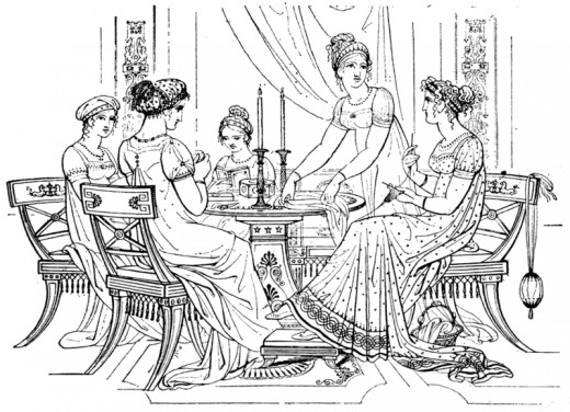 Neoclassical styles characterised the early Regency period