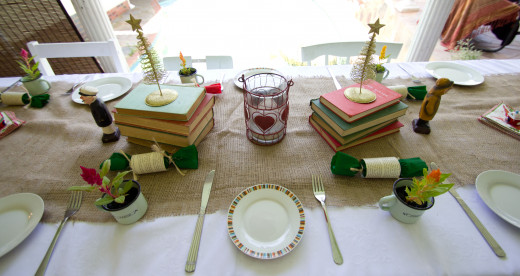 Rustic and Vintage Table decor