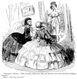 A satirical cartoon of 1857