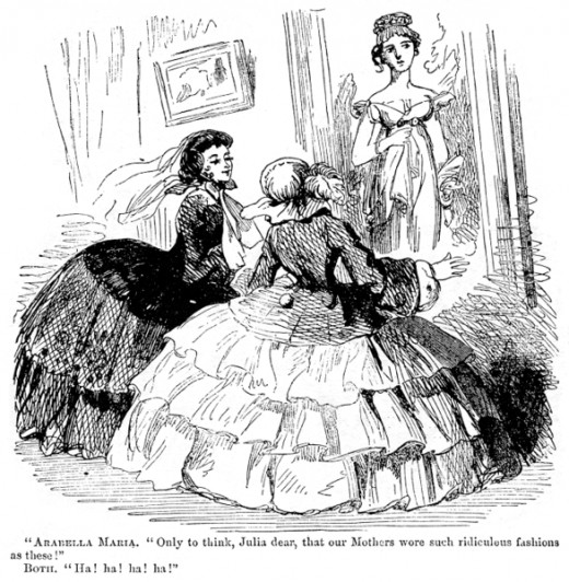 A satirical cartoon of 1857