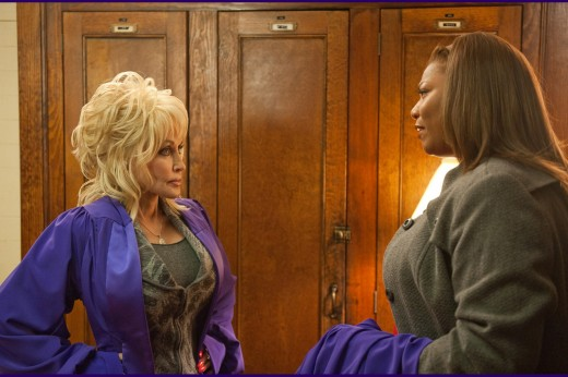 Dolly Parton and Queen Latifah play rival choir directors in the dramedy A Joyful Noise.