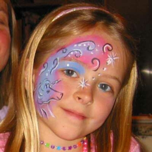 Unicorn face painting designs and ideas for children for Fairy painting easy