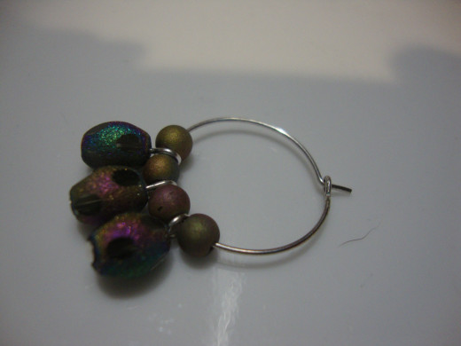 Hoop with beads.
