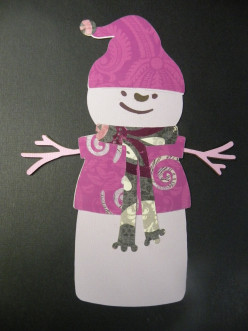 Quick and Easy to make Snowman Ornament using your Cricut