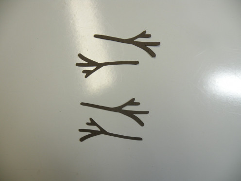 2 sets of arms and nose cutout  (nose not pictured)