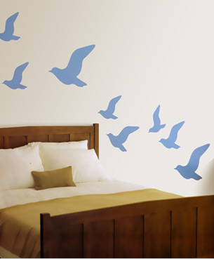 """Fly"" wall decals"