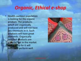 Organic e-shop