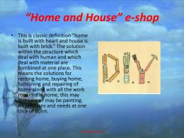 Home and House e-shop
