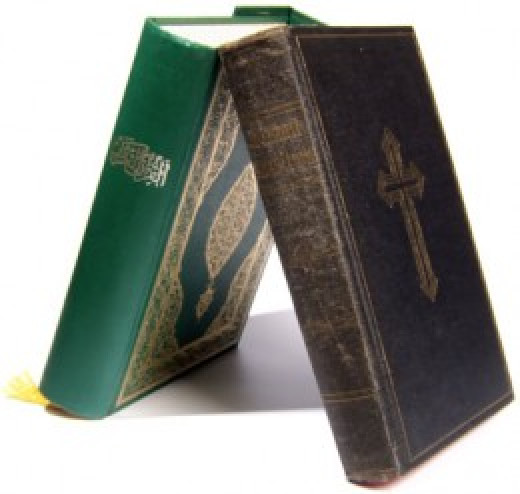 The Koran coexists with the Bible.