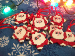 How to make a Santa salt dough ornament!