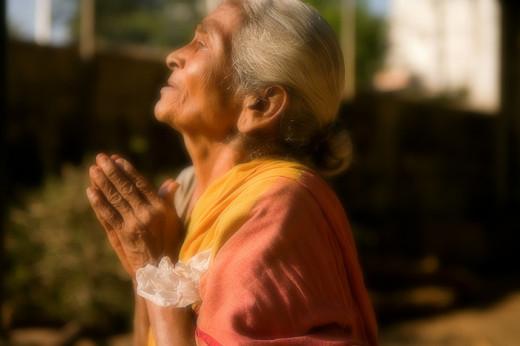 Old Lady praying