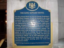 Historical plaque, King Edward Hotel, Toronto