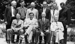1936-1939 MLB Hall Of Fame  Honus Wagner, Grover Cleveland, Tris Speaker, Napolean Lajoie, George Sisler, Walter Johnson, Eddie Collins, Babe Ruth, Connie Mac, Cy Young (not pictured Ty Cobb)
