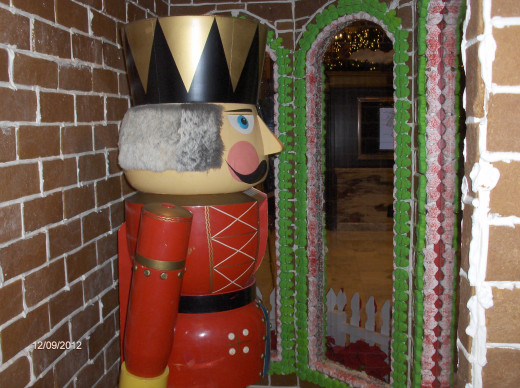 Nut Cracker guard patrols the gingerbread castle.