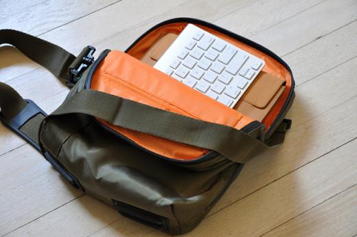 iPad and Keyboard in Sling Bag