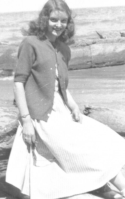 My very lovely mother when she was oh so young.