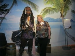 The closest I'll ever get to pillaging with Jack Sparrow!  Taken at Madame Tussaud's Wax Museum here in Las Vegas.