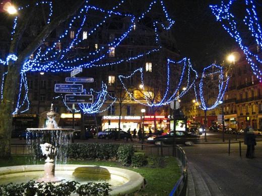 Paris streets at Christmas