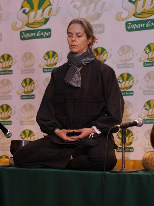 Zazen or Sitting Meditation, a style of Zen Meditation.